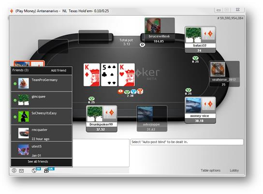 Party Poker-Tisch